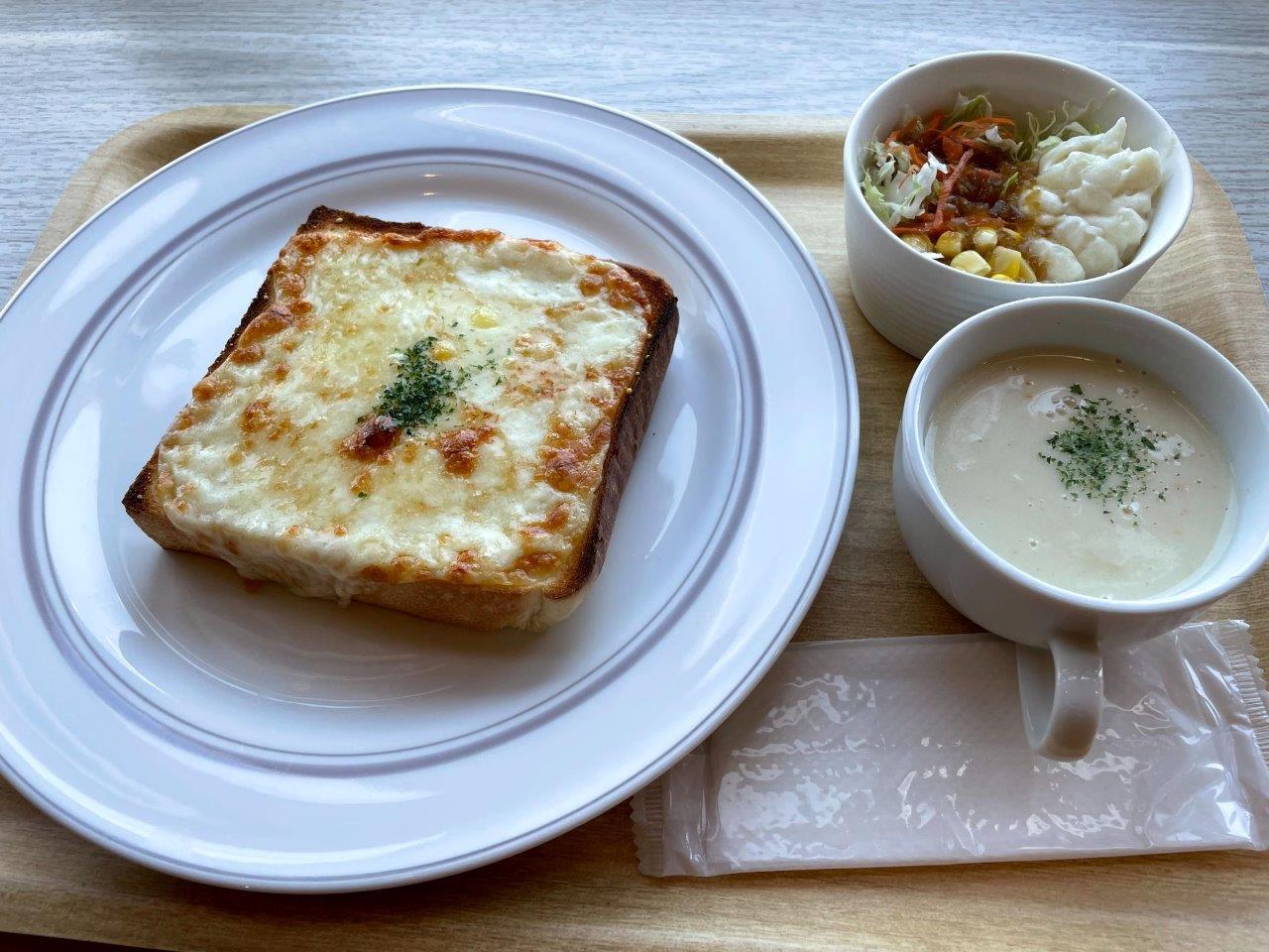 北海道チーズトーストセット